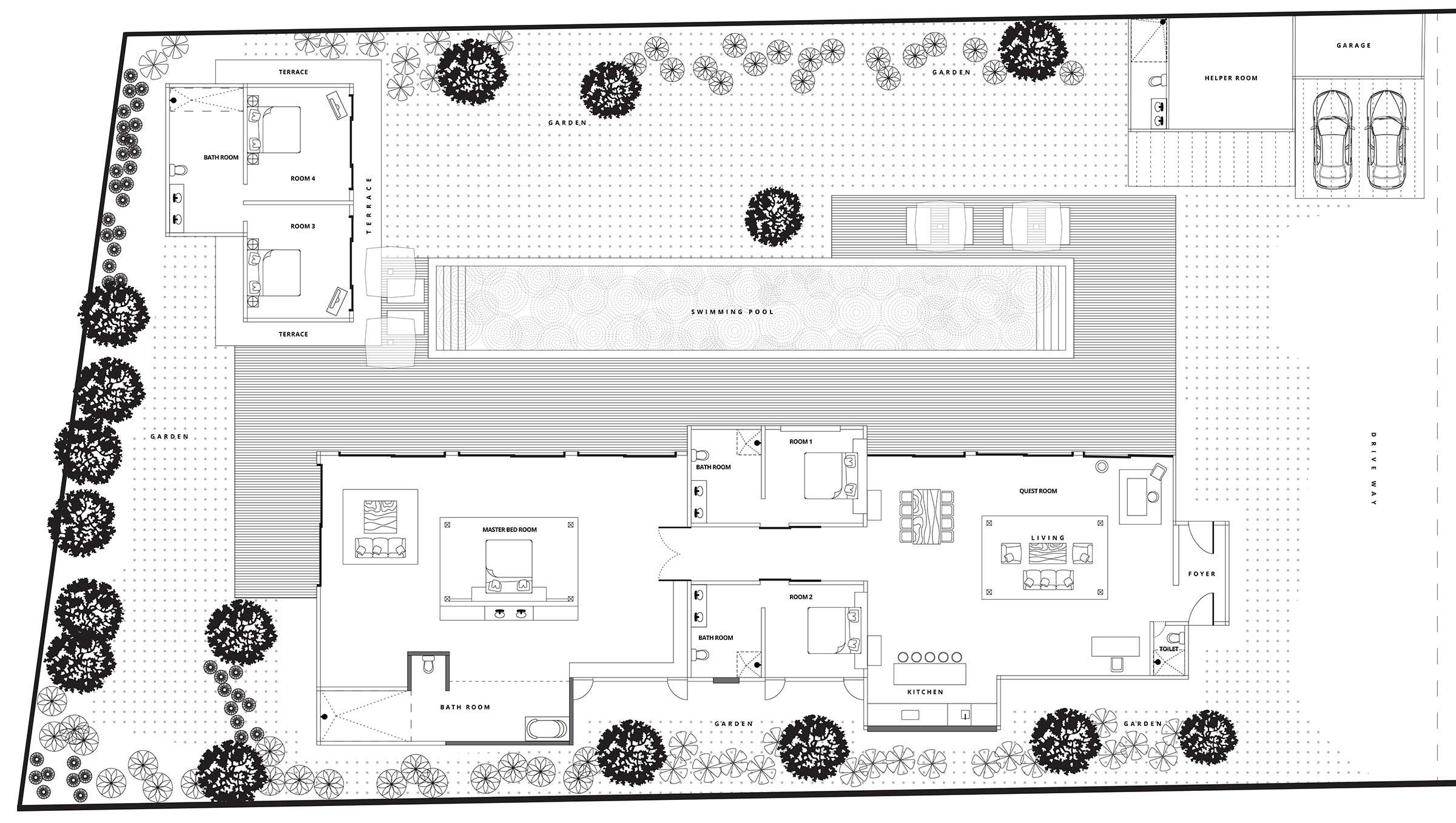 Villa Clarisse Bali - Floor Plan