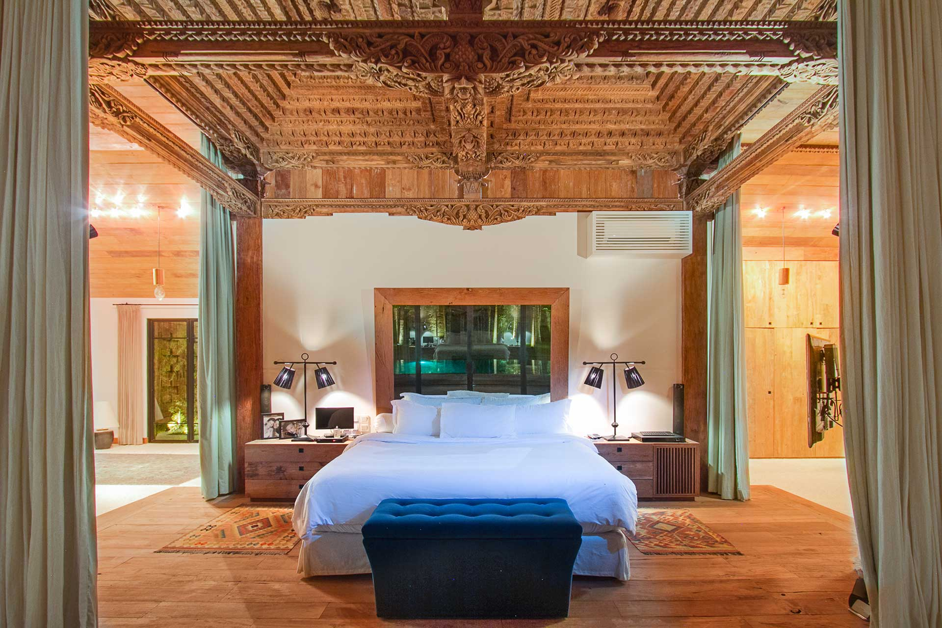 Grand Master Bedroom with extra high ceilings